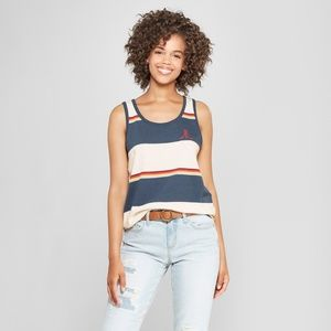 Junk Food Women's Striped Atari Graphic Tank - L